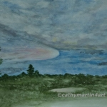 Kansas Prairie painting by Cathy Martin
