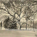 Winter on the Greens by Cathy Martin