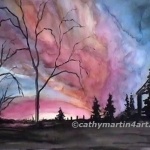 Country Sunset painting by Cathy Martin