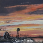 Windmill painting by Cathy Martin
