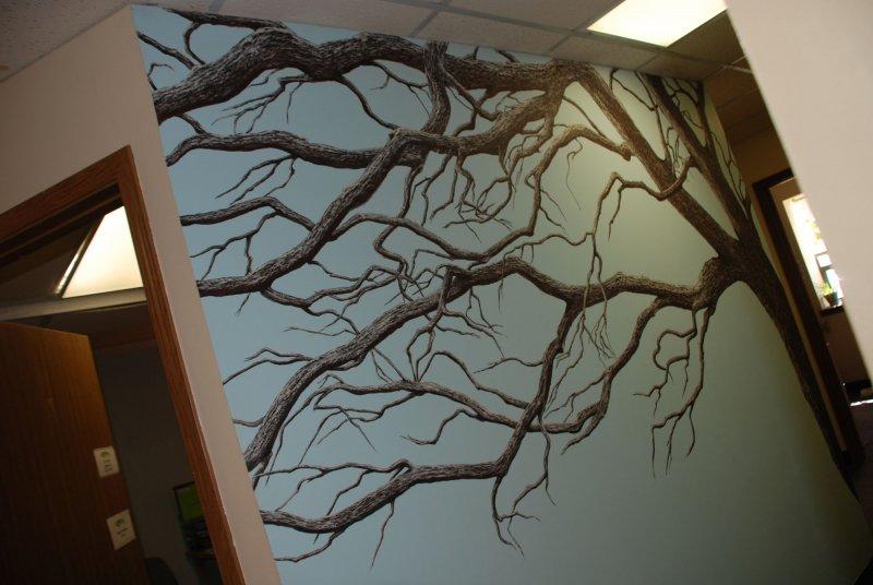 Oak Wall Mural by Cathy Martin