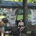 photograph of backyard mural by Cathy Martin