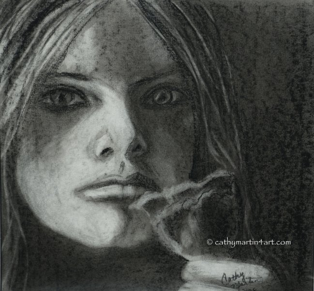 Portrait in Charcoal by Cathy Martin