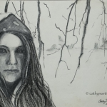 A Winter Portrait in Charcoal
