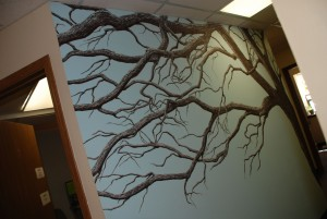 Oak Wall Mural by Cathy Martin