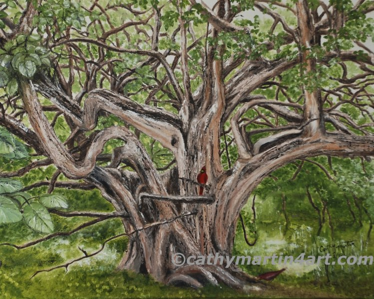 Osage Orange painting by Cathy Martin