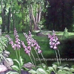 Hosta in Oil painting by Cathy Martin