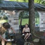 photograph of backyard mural by Cathy Martin