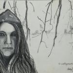 A Winter Portrait in Charcoal